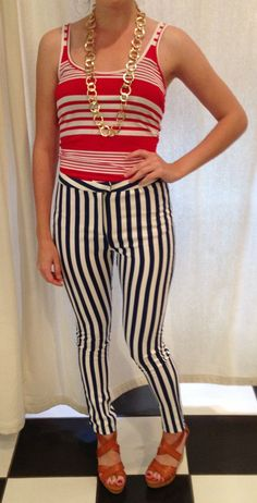Fun 4th of July Outfit! @ShopRedClover #redwhiteandblue #stripes #wedges