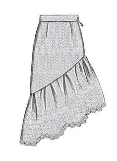 Dress Design Drawing, Dress Design Sketches, Fashion Design Drawings, Fashion Sketches, Skirt Patterns Sewing, Skirt Sewing, Sewing Coat, Coat Patterns, Blouse Patterns