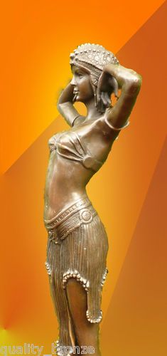 "ART DECO, "" ILLUSION OF VIRTUE "", SIGNED, PURE BRONZE, FIGURINE"