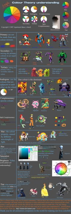 Characters Color Theory by VanessaBettencourt.deviantart.com on @deviantART