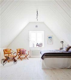bedrooms have slanted ceilings... Love My Way: HOME | modern skånelänga in…