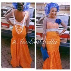 Orange and blue ensemble