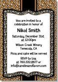 Leopard & Zebra Print - Retirement Party Invitations   Super cute invite for a lady who loves her animal print!