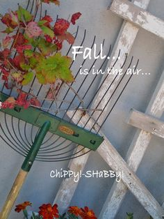 ChiPPy! - SHaBBy!: ViNtaGe R*A*K*E adorned with colorful leaves...