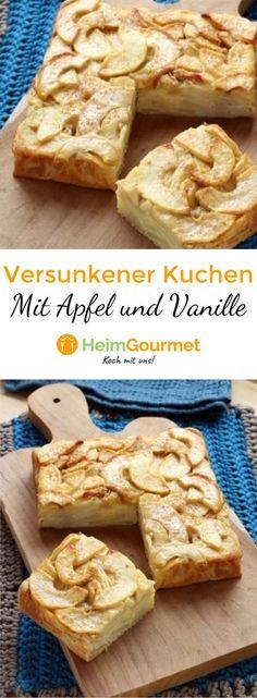 Dieser einfache Apfelkuchen ist schnell zubereitet und schmeckt sowohl Groß als auch Klein.