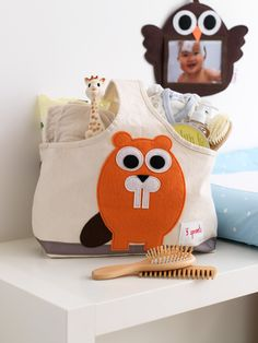 3 Sprouts beaver storage caddy - Cute!