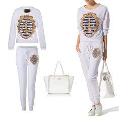 #PhilippPlein White Pullover & Jogging Trousers  http://www.boudifashion.com/ladies/brands/philipp-plein/philipp-plein-denny-white-jogging-trousers.html  #PhilippPleinCollection #DesignerFashion #Shopping #BuyOnline #Boudifashion #trousers #handbags #pullover #boudifashion #friskyfriday #happyfriday #clebes #fashionista
