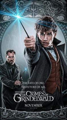 """""""Introducing the new The Crimes of Grindelwald character posters. First, we have Albus Dumbledore and Newt Scamander, working together to take down Grindelwald. Eddie Redmayne, Jude Law, Albus Dumbledore, The Beast, Fantastic Beasts Movie, Fantastic Beasts And Where, Hogwarts, Harry Potter Welt, Peliculas Online Hd"""
