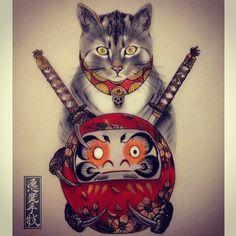 Akuma Shugi From Wolf & Dagger Tattoos Studio | The Dancing Rest http://thedancingrest.com/2016/01/22/akuma-shugi-from-wolf-dagger-tattoos-studio/