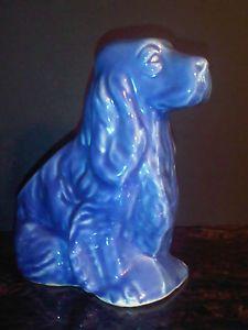 shawnee cocker spaniel pottery value | ... or Shawnee Pottery Planter Vase Cobalt Blue Dog Cocker Spaniel | eBay