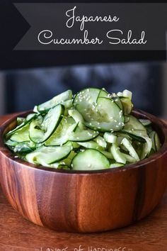 Japanese Sushi Restaurant Cucumber Salad Copycat - Layers of Happiness