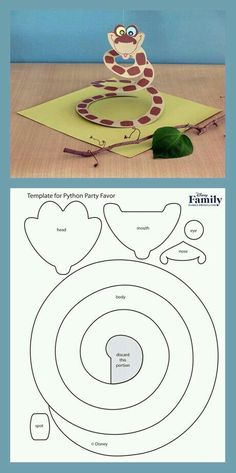 Jungle Book Create a Python Party Favor a craft inspired by the movie The Jungle Book. The post Jungle Book appeared first on Kindergeburtstag ideen. Safari Party, Jungle Book Party, The Jungle Book, Jungle Book Snake, Book Crafts, Crafts For Kids, Paper Crafts, Decor Crafts, Snake Crafts