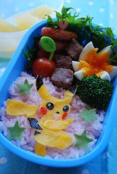 Pokémon Pikachu Egg Crape Kyaraben Bento Lunch