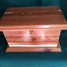Cedar handmade box, wooden box with latch, wooden jewelry box, gift box, treasure box, cedar box by TNTWoodWorkshop on Etsy