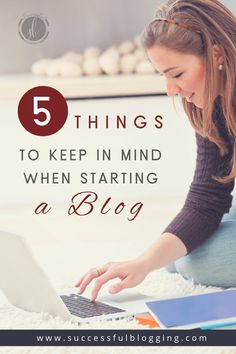 5 Things to Keep in Mind When Starting a Blog | Successful Blogging | Blogging For Beginners | Blogging Strategist | Blogging For Money Make Money Blogging, How To Make Money, Formulaires Web, Promotion Strategy, Thing 1, Wordpress, Online Entrepreneur, Keep In Mind, Blogging For Beginners