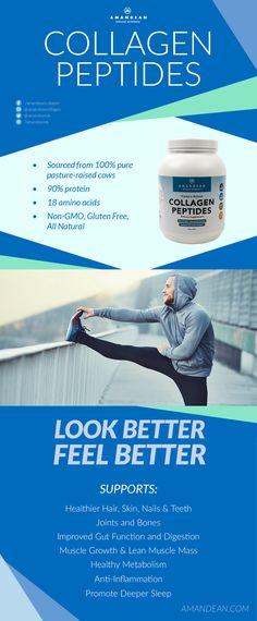 All-Natural, Grass-fed Collagen Peptides  https://www.amazon.com/Hydrolyzed-Collagen-Hydrolysate-Supplement-Unflavored/dp/B01FUY7WAQ/ref=sr_1_1_a_it?ie=UTF8&qid=1488980343&sr=8-1&keywords=amandean+collagen+powder