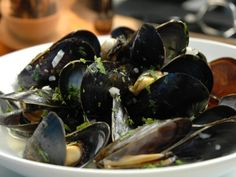 Mussels in Cream Side Dish Recipes, Side Dishes, Recipe Master, Cooking Cream, Mussels, Special Recipes, Fish And Seafood, Eggplant, Butter