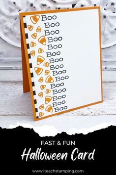 Make this yummy candy corn handmade card in just minutes! No fancy supplies or tools needed - perfect for any card maker. Click thru for all the details. Halloween Cards, Halloween Fun, Funny Share, Simply Stamps, Halloween Fashion, Card Maker, Candy Corn, Free Paper, Greeting Cards Handmade