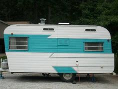 WANT! 1962 Holiday Rambler! And it's *turquoise*!