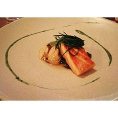 #Servedbyname #LochDuart salmon #englishseaweed and #mussels at Anglo London 'nomnomnom (www.anglorestaurant.com)