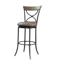 """Lowest price online on all Hillsdale Charleston 26"""" X-back Swivel Counter Stool in Tan - 4670-826"""