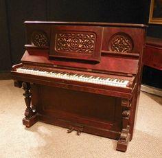 Mathushek victorian upright piano the antique piano shop for Small piano dimensions