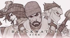 """blackwatchzine:  """" The moment you've all been waiting for – please welcome Blackwatch's newest agents, 15 amazing writers and 45 incredible artists! - Jesse McCree - Gabriel Reyes - Genji Shimada  (banner art by the lovely Kiki'ssh!)  +  WRITERS  Aluxra 