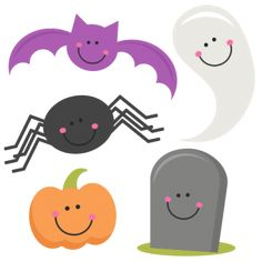 Halloween Set SVG scrapbook title SVG cutting files bat svg cut file halloween cute files for cricut cute cut files free svgs