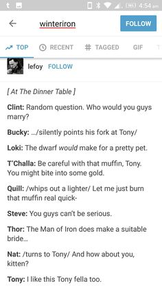 Because everyone needs a Tony in their life