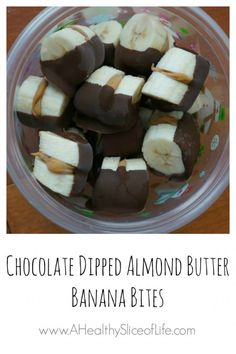chocolate dipped banana bites // For more family resources visit www.ifamilykc.com! :)