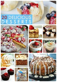 20 Delicious Desserts at Tatertots and Jello!!