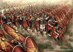 Roman Army in one of their battle positions