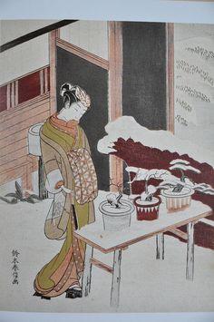 Harunobu Mitate de l'histoire des arbres en pot - Suzuki Harunobu - Wikipedia, the free encyclopedia