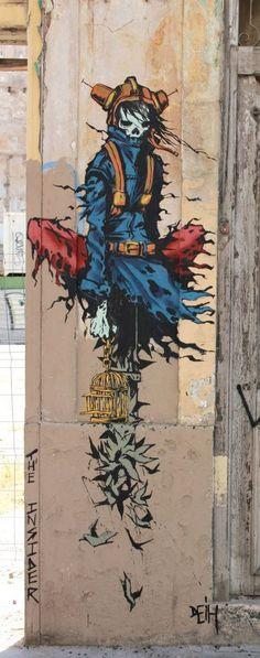 "Street art   Mural ""The Insider"" (Valencia, Spain) by Deih #streetart #arte #art #arteurbano #turismo #turismocomunidadvalenciana #spain #españa #valencia #valenciastreetart #valenciaarteurbano"