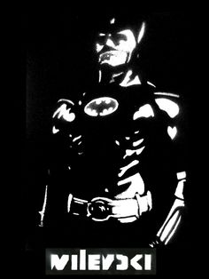 Wilevski Wit 0.1 Batman - 2012 - stencil art - 20 x 30 cm