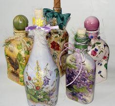 Botellas Decoradas con Decoupage | 1001 Consejos