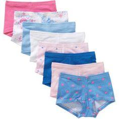 Hanes Girls' Boy Shorts Underwear, 8-Pack, Size: 12, Assorted
