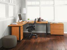 Sequel Rolling File - Parsons Leg L-Shaped Desk - Office - Room & Board Office Furniture Inspiration, Home Office Furniture, Parsons Desk, Best Desk, L Shaped Desk, Home Desk, Modern Desk, Corner Desk, Board