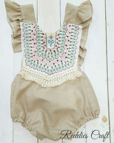 baby romper. handmade by reddies craft