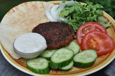 Kofta Kebab Burgers with Tzatiki Sauce