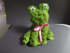 washcloth folding craft frog