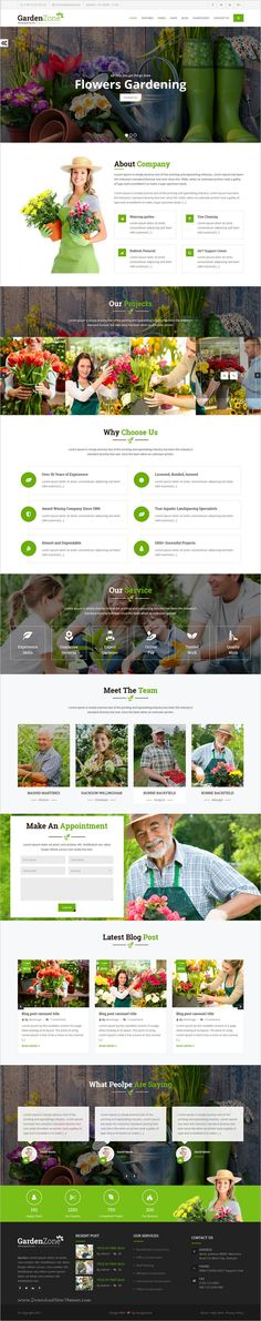 garden care gardening and landscaping bootstrap template