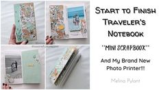 Photo Printer, Journal Notebook, Travelers Notebook, Scrapbook, 5 Hours, Mini, Crafts, Youtube, Videos