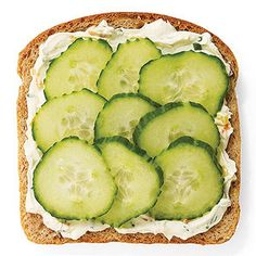 Veggie cream cheese and cucumber sandwich- lots of other amazing sandwich ideas!!!