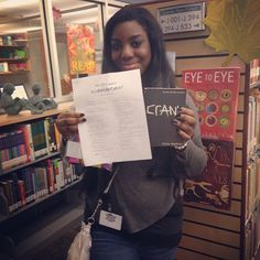 "The scavenger hunt winner! She went home with a free copy of ""Crank"" by Ellen Hopkins #trw #trw2014 #teenreadweek 