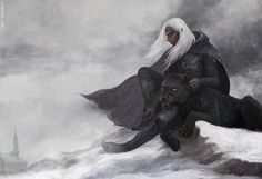 Drizzt Do'Urden and his faithful companion Guenhwyvar. By CG-Warrior on DeviantArt. I love the Forgotten Realms series! Fantasy Love, Elves Fantasy, Medieval Fantasy, Fantasy Books, Dark Fantasy, Fantasy Characters, Fantasy Art, Fantasy Dress, Fantasy Creatures