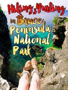 Hiking & Yurting in Bruce Peninsula National Park / Ontario, Canada… Canada Travel, Travel Usa, Parc National, National Parks, Bruce Peninsula, Ontario Parks, Road Trip, Ontario Travel, Canada Destinations