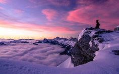 Winter sunrise at Vercors Alpes, France