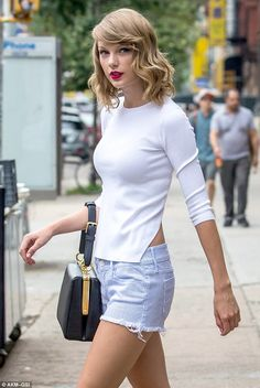 She knew they were trouble... Taylor Swift didn't look quite her usual bright, bubbly self as she emerged from the gym in New York on Monday...