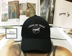 I NEED MY SPACE Nasa Meatball Baseball Cap Nasa Hat nasa